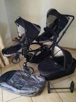 ABC design double pram with carrycot