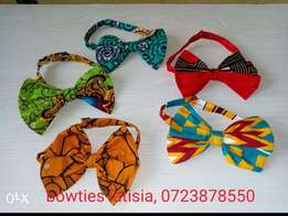 Ankara bowties and hair clips