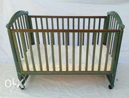 U.S Used Cosatto Hugo Drop Side Wooden Crib Baby Bed