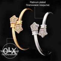 Gold and platinum plated bracelets/bangles