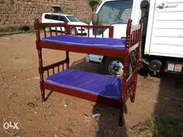 2.5x5 double decker bed with mattresses