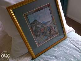 Anglo Boer War framed paintings