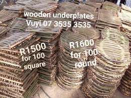 For Hire for sale, wooden underplate, Traditional centre piece Soweto