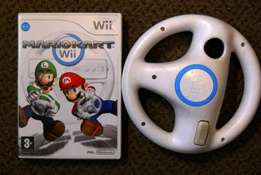Wii used Game Mariokart and racing wheel