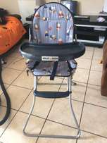 high chair and 2 rocking/car seat