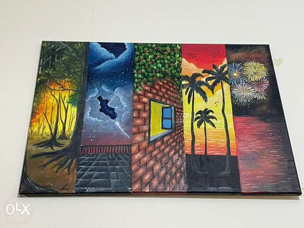 5 in 1 oil painting