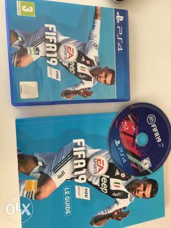 fifa19 and its book for playstation4. 1$=2000L.L