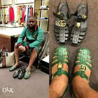 Gucci Covered Sandal Now Available In Green