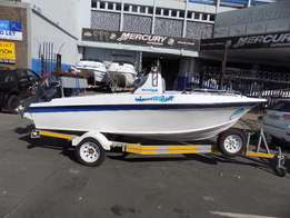 super stealth 16 ft on trailer 2 x 40 hp yamahas