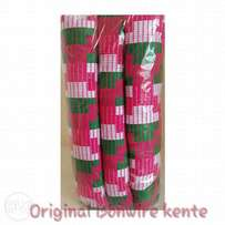Pink Pink, White and Green Kente Cloth.