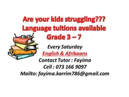 English & Afrikaans Tuitions