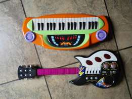 Kids Guitar and piano toys, both R350