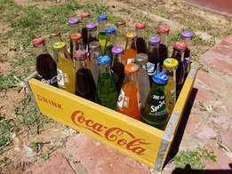 Coca Cola Crate + 24 full Cool drinks J 2568