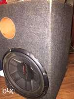 Pioneer Subwoofer with box cabinet- deep bass