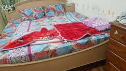 Double bed 200x200 with Medical mattress