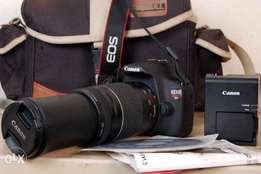 Full Hd Canon T5 with 75-300mm lens