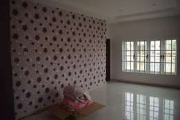 Don't paint. Use wall papers. Call fracan Wallpaper Ltd Abuja