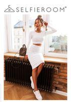 14e829c823 Komplet biały bluzka spódnica Selfieroom r. S