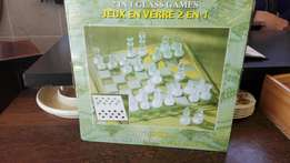 2 in 1 glass games set (p2736/2)