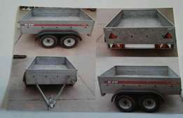 Caddy 640 twin Axle galvanised trailer