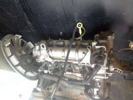 VW POLO VIVO 1.4 COMPLETE ENGINE, complete cylinder head