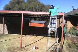Carports , sliding gates , palisade fencing , burglar proofing ,
