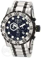 Invicta Men's 0814 Reserve Chronograph Black Dial Stainless Steel Watc