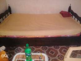 3½ Hardwood Bed and Mattress