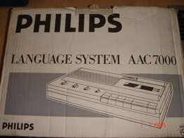 "PHILIPS Language system AAC-7000, full set of Books and tapes "" Learn"