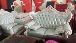 Italian Royal sofa leather chairs by 7seaters