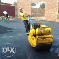 Roads construction company tar surfacing projects