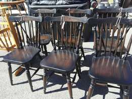 Vintage pine chairs x6(p3260/1)