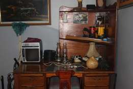 Big wooden desk and chair for sale