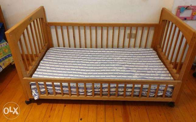 """Baby bed from 0 to 12 years -solid hardwood 'ZAAN"""""""