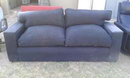 3 Seater Black Couch
