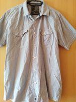 CROPP TOWN Koszula męska biała hawajska (L) Zdjęcie na imgED