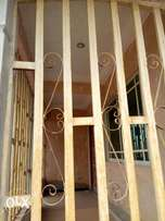 Two flat bungalow on a 50ft by 100ft of sapele road Obe with pop