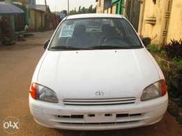 Toyota Starlet, manual gear,white colour,To jun no