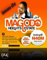 Plots of land available in Magodo Heights Estate