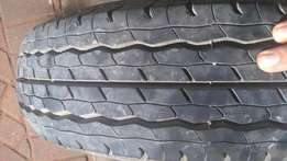 Dunlop trailer tyre and rim