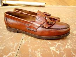 Brown Genuine leather moccasins/loafers