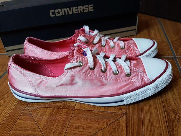 7502beb5d5da4 Trampki CONVERSE rozm.36 tenisówki czerwone różowe satynowe Adidas Błonie -  image 1