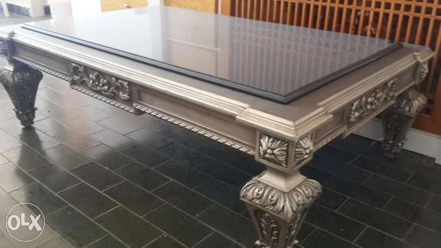 Silver plated table. Luxury