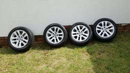 """16"""" Oem Bmw Rims with 8 Continental Runflat Tyres"""