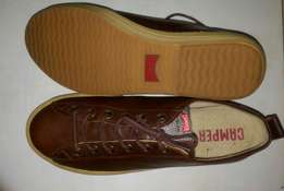 Camper Alicante Mens Casual Shoes in Brown Leather ( size 44 )
