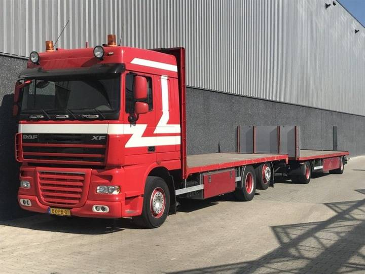 DAF FAN XF105-460 MANUAL FOURAGECOMBI AANHANGWAGEN BURG - 2010