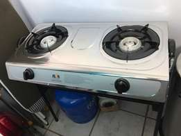 Alva Two plate gas stove on stand. Very good condition.