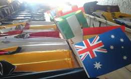 Jersey and flags for sale