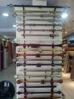 Strong curtain rods free delivery