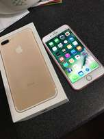 Unused gold iPhone 7 plus in excellent working condition
